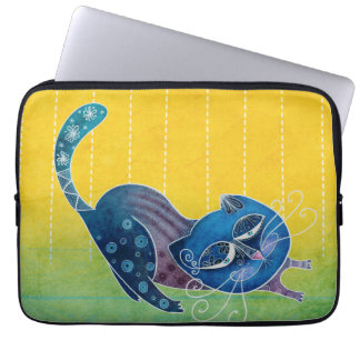 Sluggish cat laptop sleeve