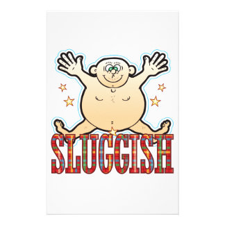Sluggish Fat Man Stationery