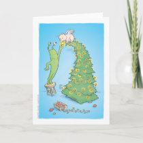 sluggo and the pigangel tree holiday card
