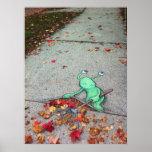 sluggo the lazy leaf-raker poster