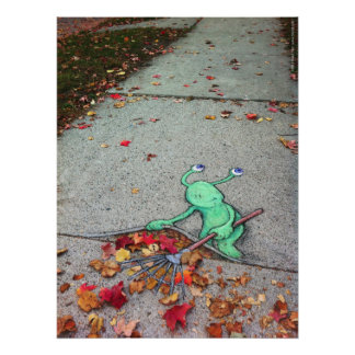 sluggo the lazy leaf-raker poster