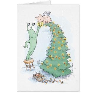 sluggo y el árbol del pigangel tarjeta de felicitación