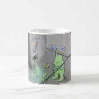 sluggo y la taza de la palanca de la primavera