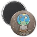 sluggo's anti-snow globe 2 inch round magnet