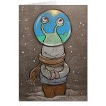 sluggo's anti-snow globe greeting card