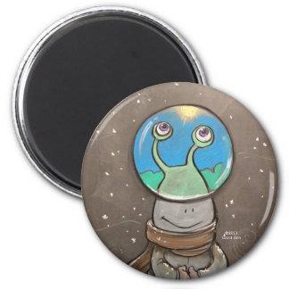 sluggo's anti-snow globe fridge magnet