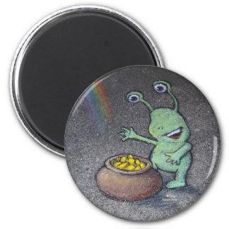 sluggo's pot of gold 2 inch round magnet