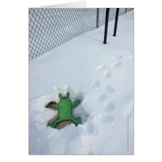Sluggo's Snow Angel Greeting Cards