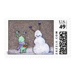 sluggo's snowman stamps