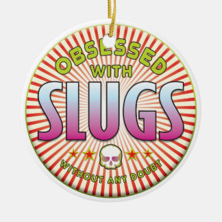Slugs Obsessed R Double-Sided Ceramic Round Christmas Ornament