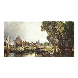 Sluice And Mill In Dedham (Dedham Mill) By John Co Customized Photo Card