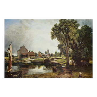 Sluice And Mill In Dedham (Dedham Mill) By John Co Posters