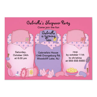 Slumber Birthday Party Card
