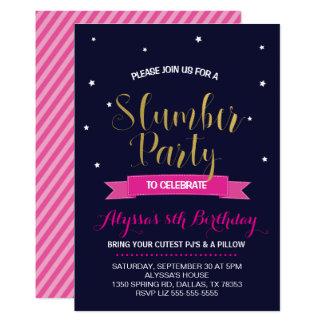 Slumber Birthday Party Invitation