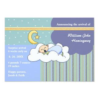 Slumber Boy Birth Announcement