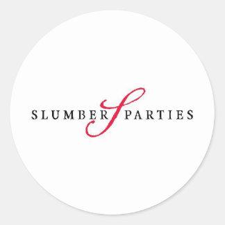 Slumber Parties Logo Promotional Parties Classic Round Sticker