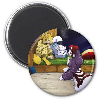 Slumber Party 2 Inch Round Magnet