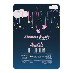 Ariel birthday invitations zazzle slumber party birthday invitations filmwisefo