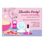 "Slumber Party Birthday Invitations 5"" X 7"" Invitation Card"