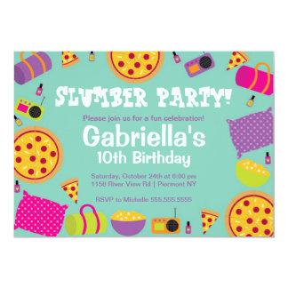 "Slumber Party Fun Birthday Invitation 5"" X 7"" Invitation Card"