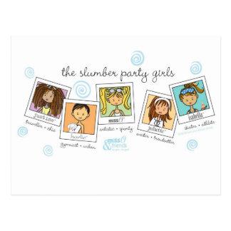 slumber party girls postcard