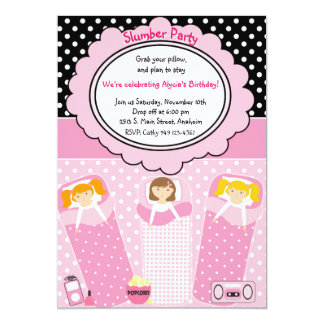 Slumber Party Personalized Invitation