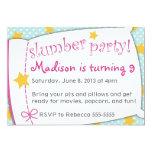 "Slumber Party Invitation 5"" X 7"" Invitation Card"