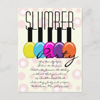 Slumber Party Invitation postcard
