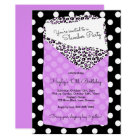 Slumber Party Invitation, Sleeping Bag, Purple Card