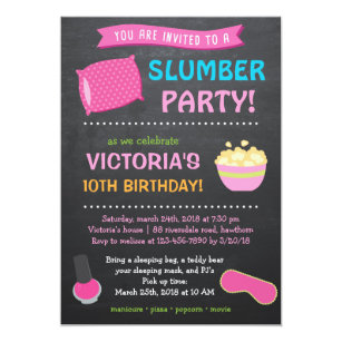 Pajama Party Invitations Zazzle