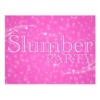 slumber party invitations : starshine