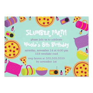 Slumber Party Kids Birthday Card
