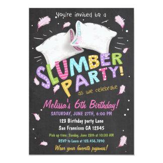 slumber party pajamas sleepover invitation - Sleepover Birthday Party Invitations