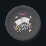 """Slumber Party Pajamas Sleepover Plates Pink<br><div class=""""desc"""">♥ A perfect addition to your little one&#39;s birthday party! Slumber Party birthday theme with pink for a girls birthday.</div>"""