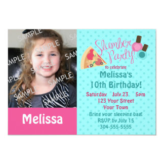 Slumber Party Photo Template Card