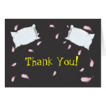 Slumber Party Pillow Fight Birthday Thank You Note Stationery Note Card
