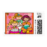 Slumber Party Postage Stamps