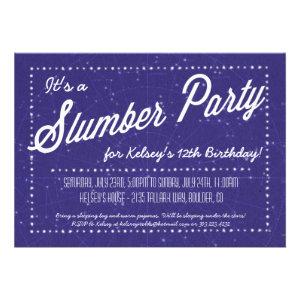 Slumber Party - Sleep Over Under the Stars Invite