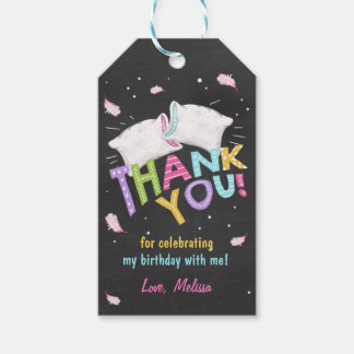 Slumber party Sleepover thank you favor gift tags