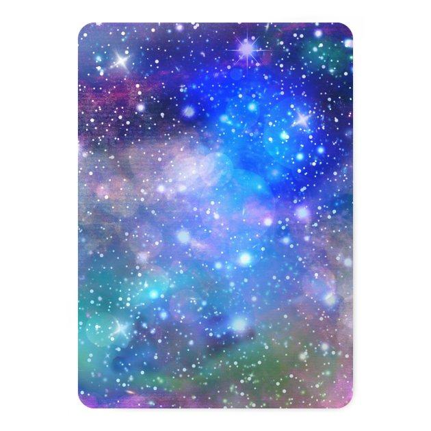 slumber party space galaxy birthday invitations