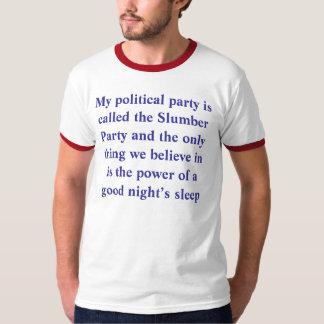Slumber party tshirts