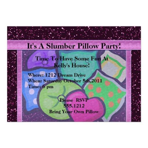 Slumber Pillow Party Announcement