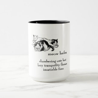 Slumbering Cats: Haiku - Beverage Mug