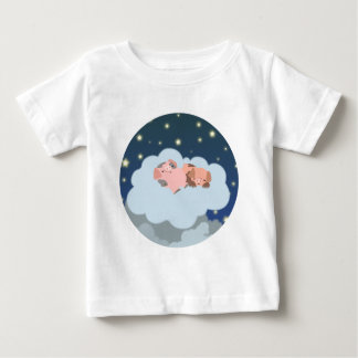 Slumbering Piglets cartoon Baby T-shirt