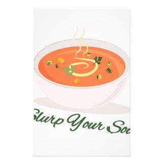 Slurp Your Soup Stationery