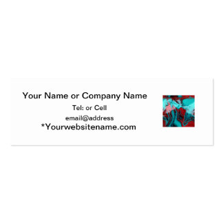 slurry or slag of blue and red art glass Double-Sided mini business cards (Pack of 20)