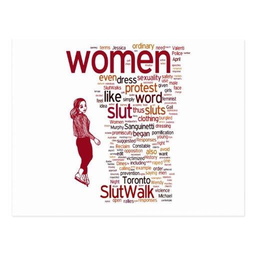 slutwalk postcard