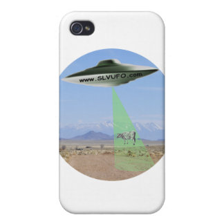 SLV UFO Iphone 4 Case with UFO beaming up Cow