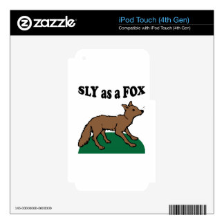 Sly As A Fox Skins For iPod Touch 4G