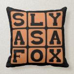 Sly As A Fox, Tricky Devil Pillow